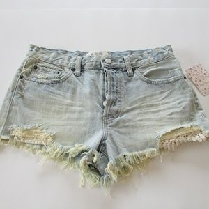 Free People Daisy Chain Fray Shorts Size 28